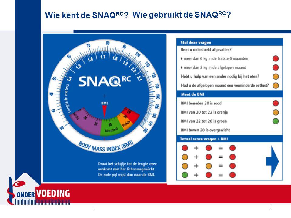 Wie kent de SNAQ65+ Wie gebruikt de SNAQ65+