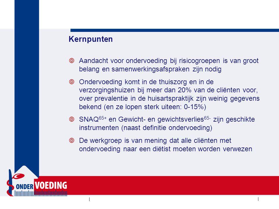 Diagnose ondervoeding / Screeningsuitslag*