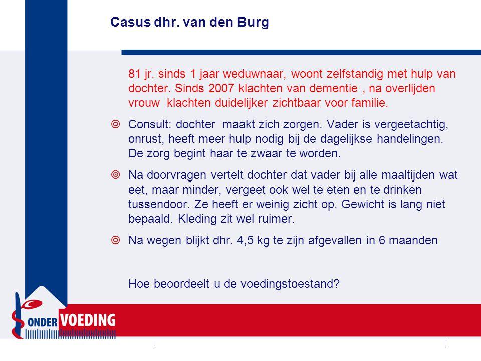 Vervolg casus dhr. van den Burg