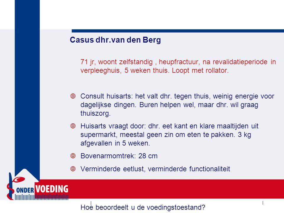 Vervolg dhr. van den Berg