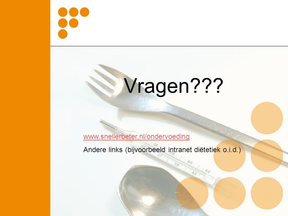 Vragen www.snellerbeter.nl/ondervoeding