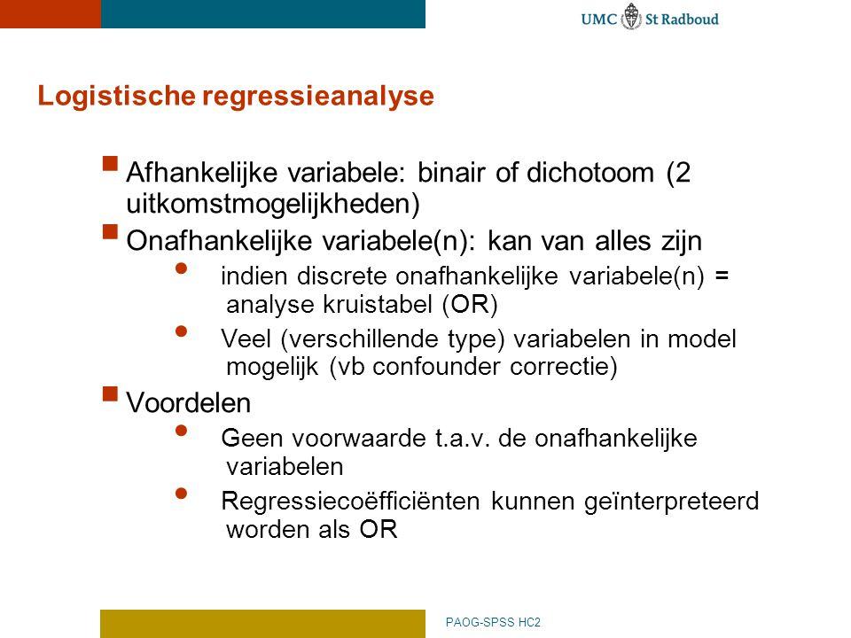 Logistische regressieanalyse