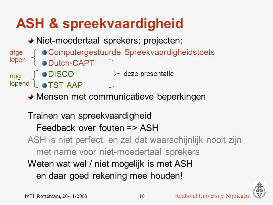 ASH & spreekvaardigheid