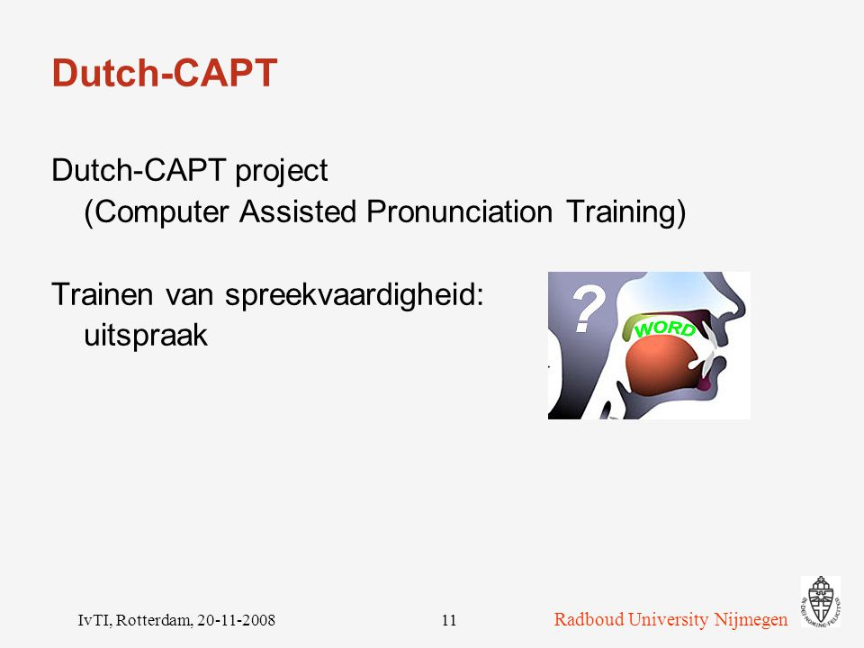 Dutch-CAPT Dutch-CAPT project
