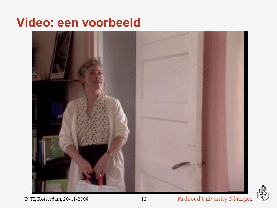 Video: een voorbeeld IvTI, Rotterdam, 20-11-2008
