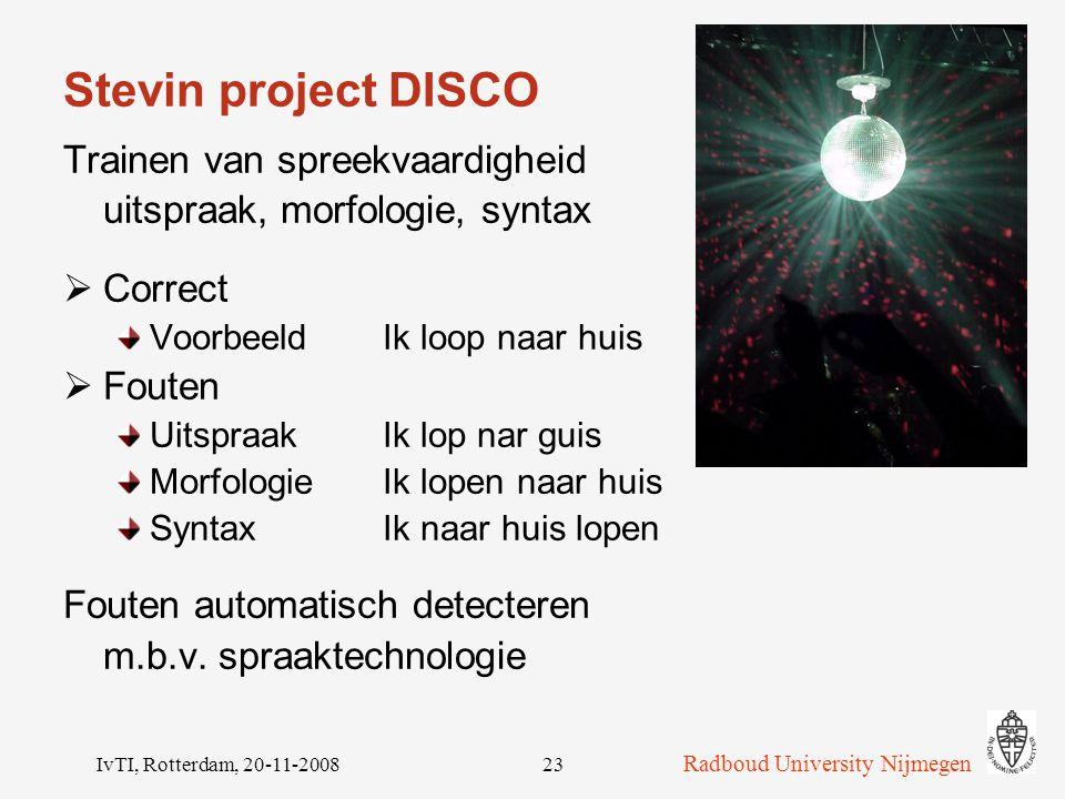 Stevin project DISCO Trainen van spreekvaardigheid