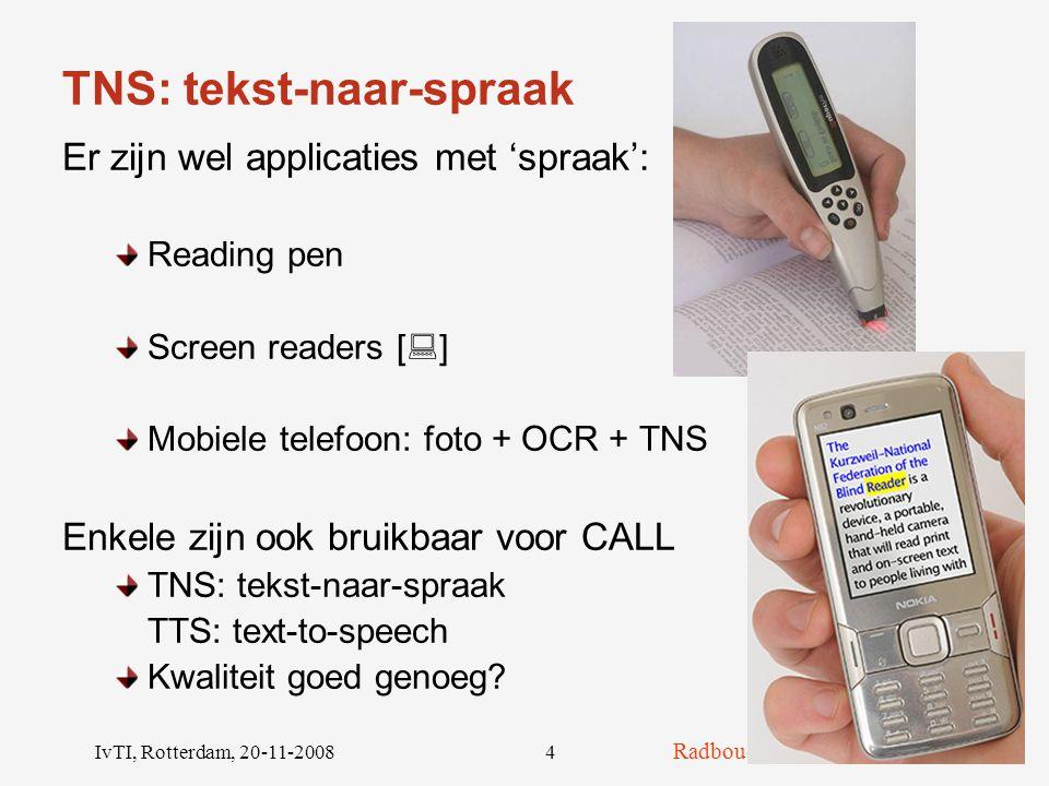 TNS: tekst-naar-spraak