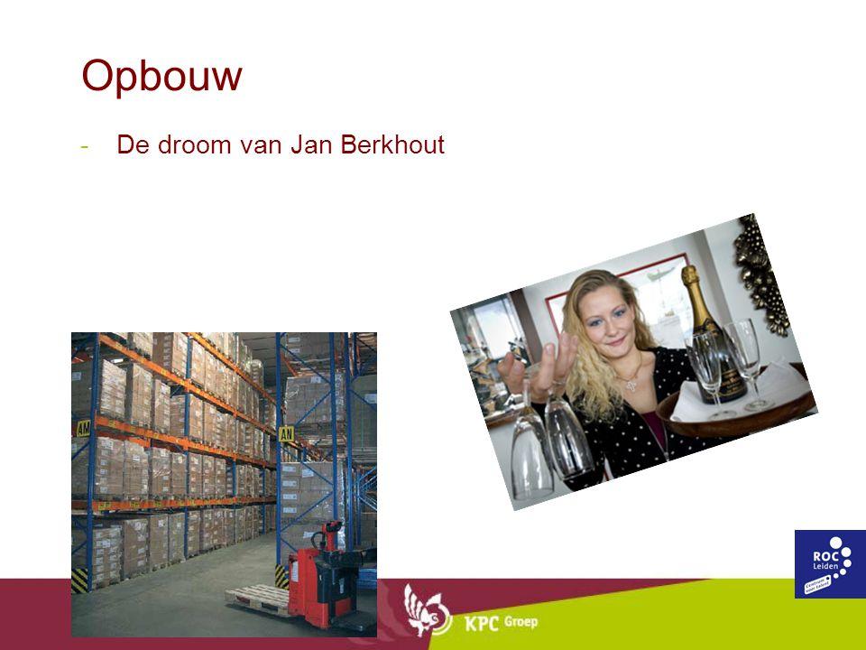 Opbouw De droom van Jan Berkhout