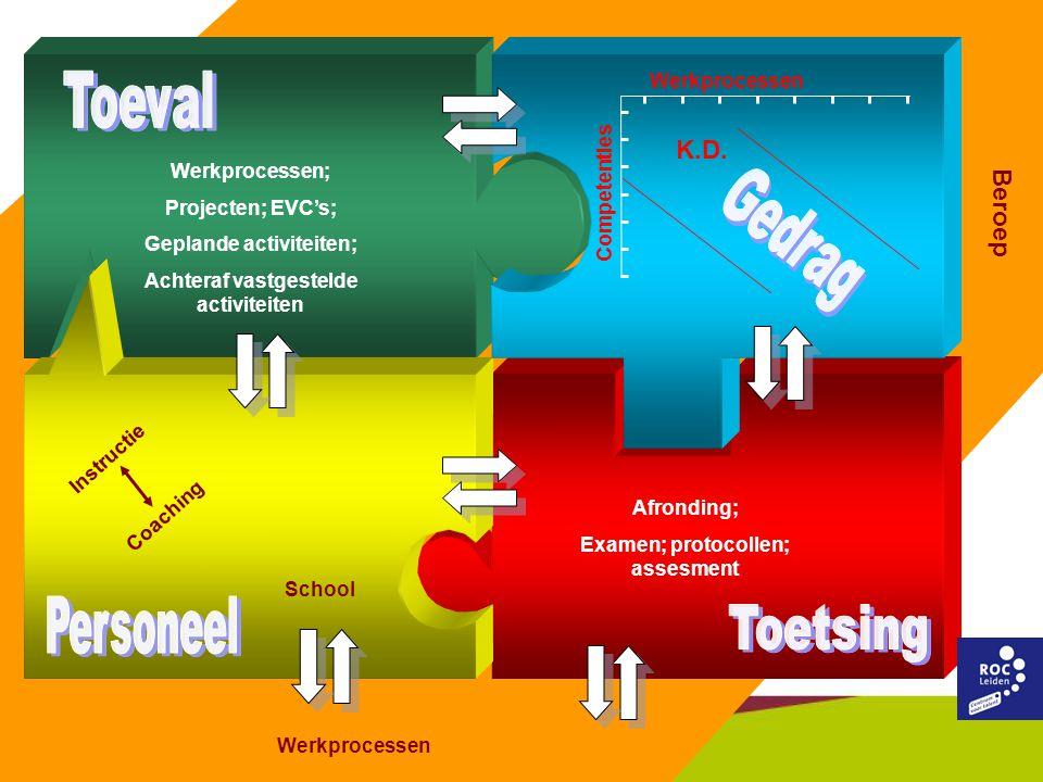 Toeval K.D. School Beroep Gedrag Personeel Toetsing Werkprocessen