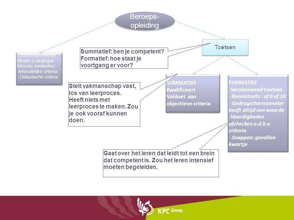 Beroeps-opleiding Toetsen Summatief: ben je competent