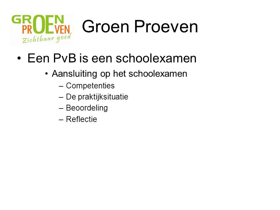 Groen Proeven Een PvB is een schoolexamen