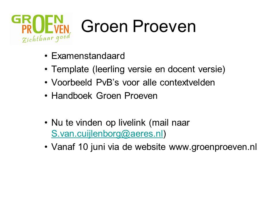 Groen Proeven Examenstandaard
