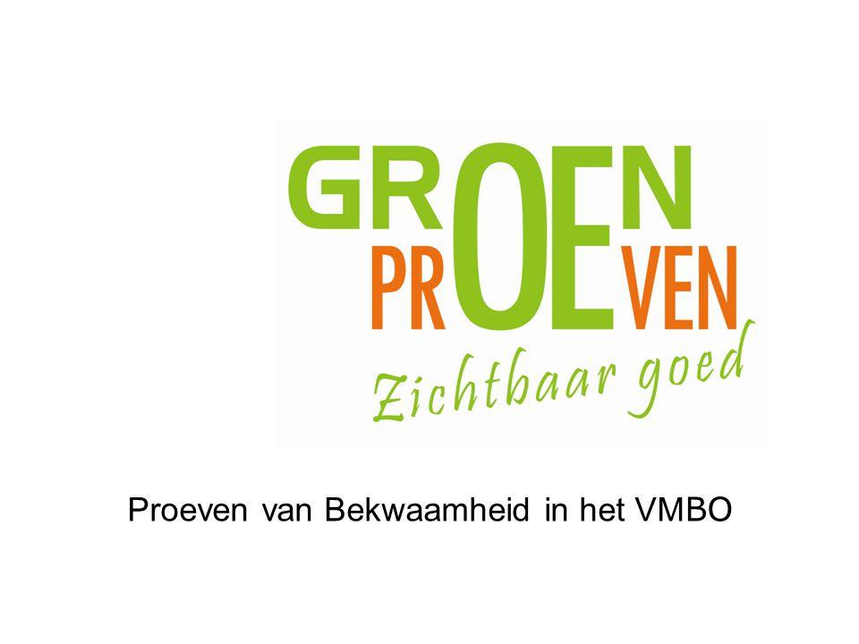 Proeven van Bekwaamheid in het VMBO