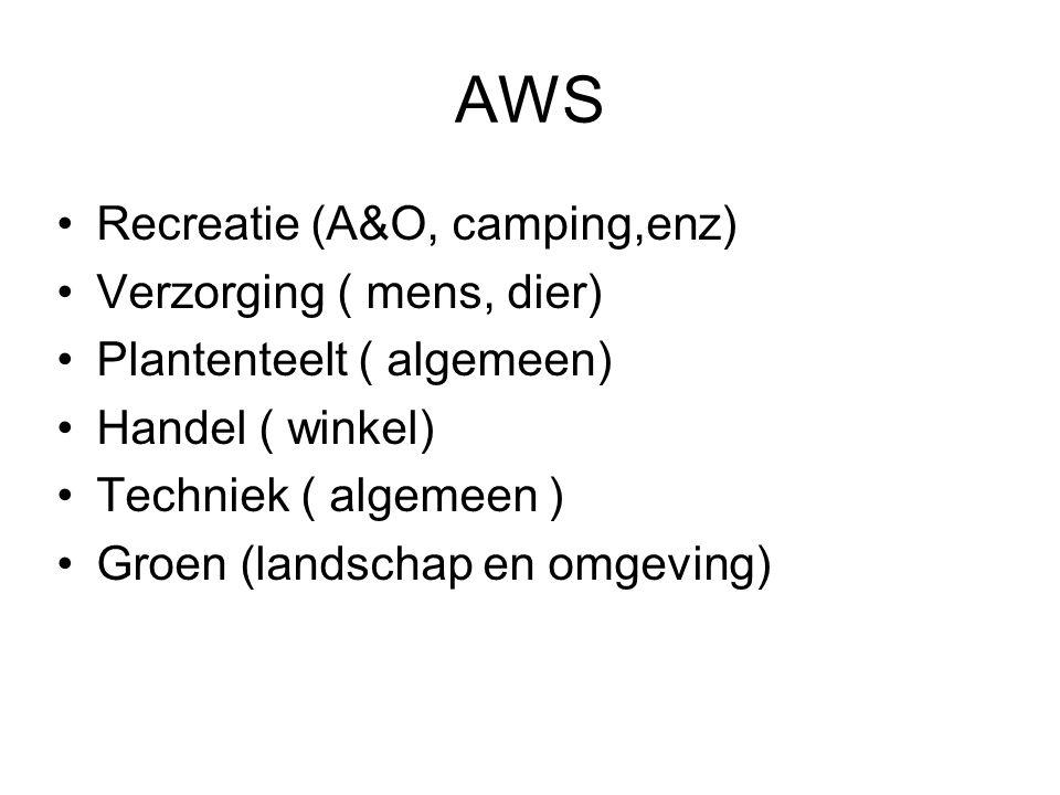 AWS Recreatie (A&O, camping,enz) Verzorging ( mens, dier)