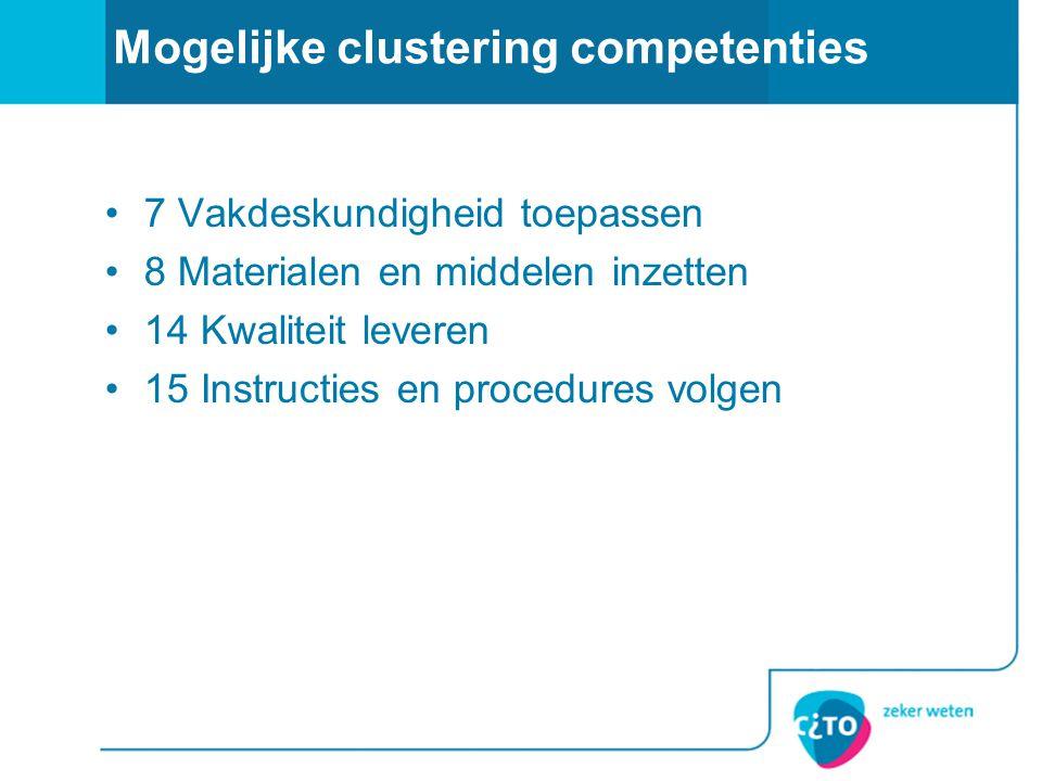 Mogelijke clustering competenties