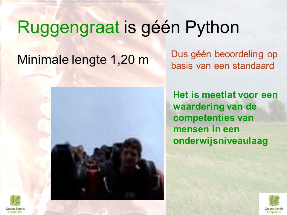 Ruggengraat is géén Python