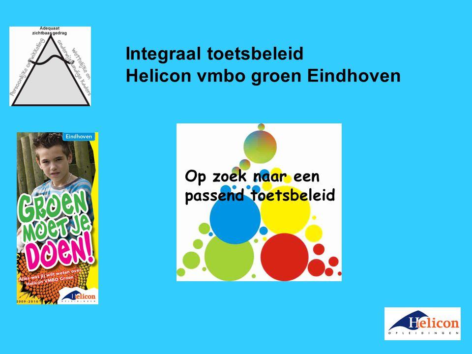 Integraal toetsbeleid Helicon vmbo groen Eindhoven