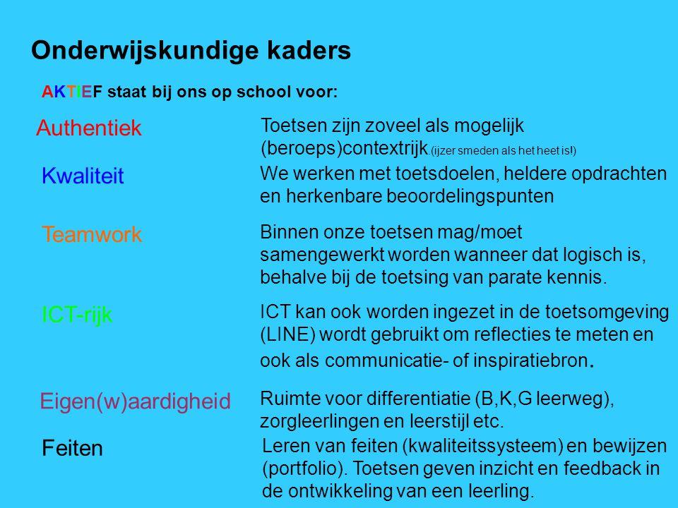 Onderwijskundige kaders