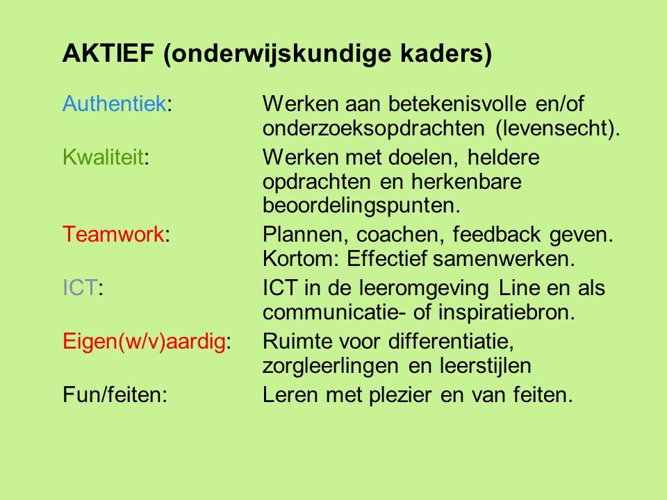 AKTIEF (onderwijskundige kaders)