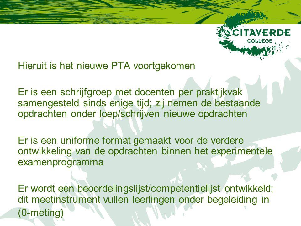 Hieruit is het nieuwe PTA voortgekomen