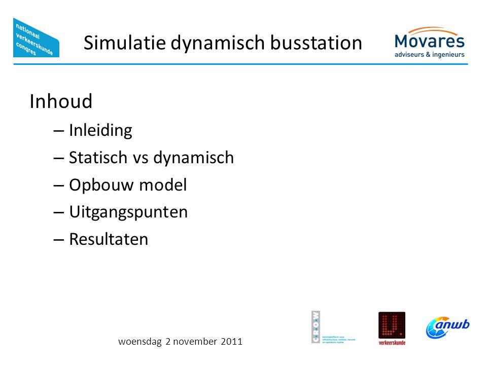 Simulatie dynamisch busstation