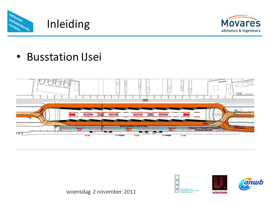 Inleiding Busstation IJsei woensdag 2 november 2011