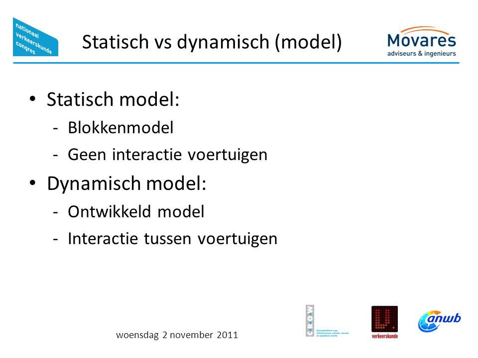 Statisch vs dynamisch (model)