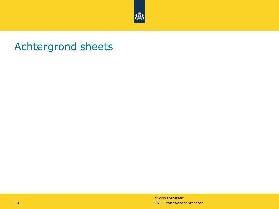 Achtergrond sheets D&C Standaardcontracten