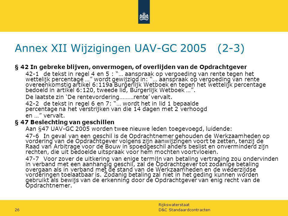 Annex XII Wijzigingen UAV-GC 2005 (2-3)