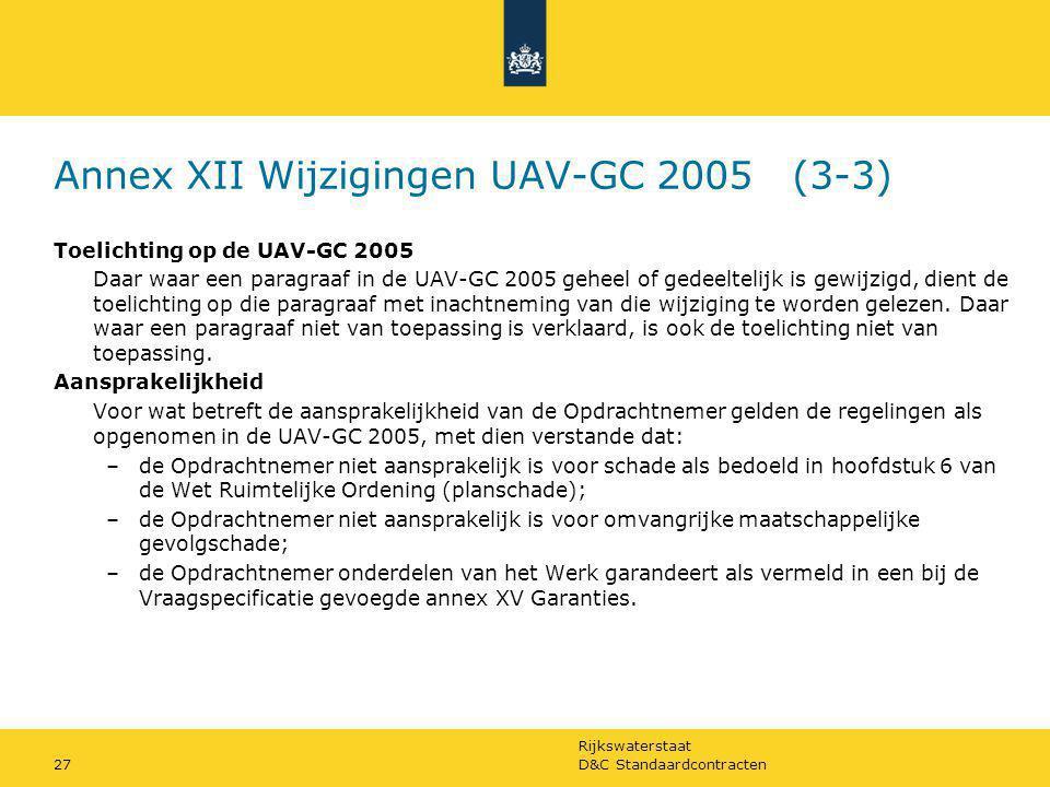 Annex XII Wijzigingen UAV-GC 2005 (3-3)