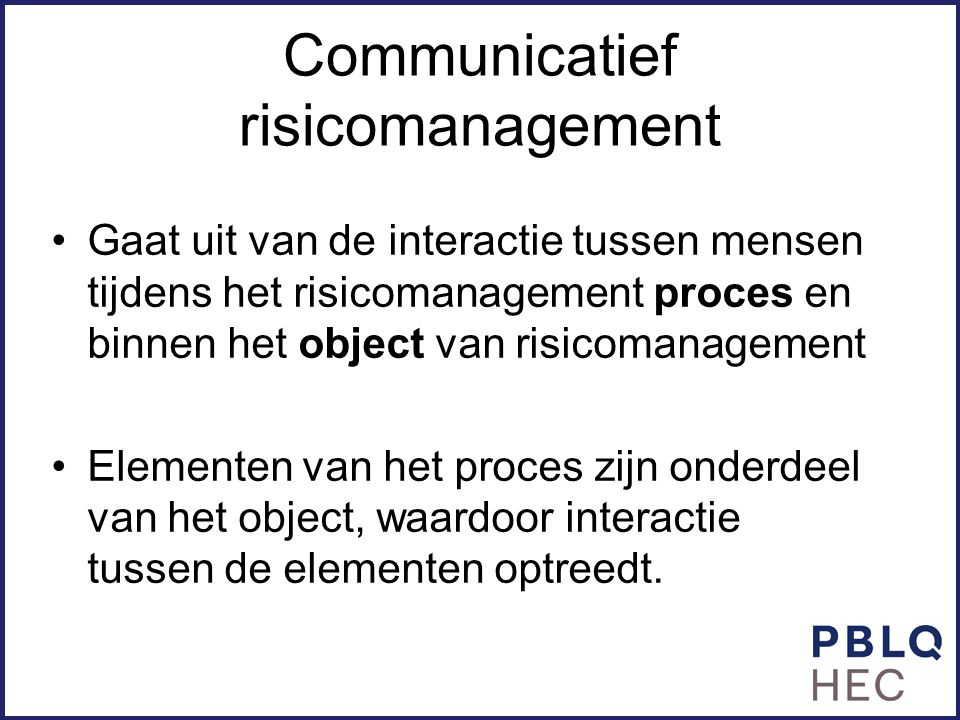 Communicatief risicomanagement