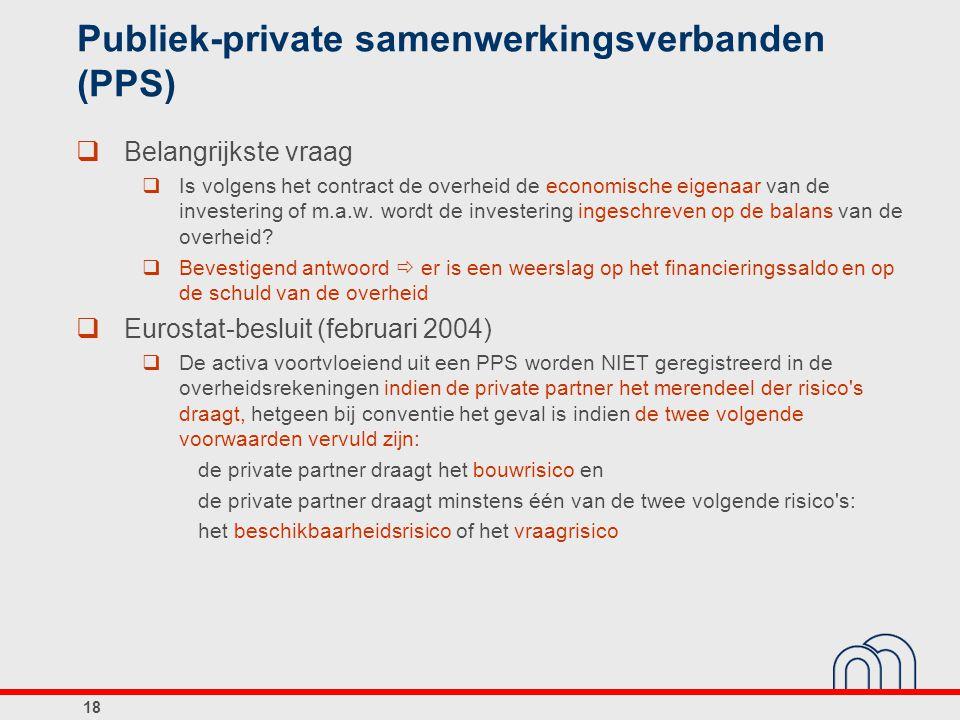 Publiek-private samenwerkingsverbanden (PPS)