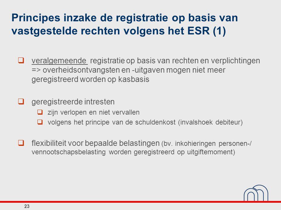Principes inzake de registratie op basis van vastgestelde rechten volgens het ESR (1)
