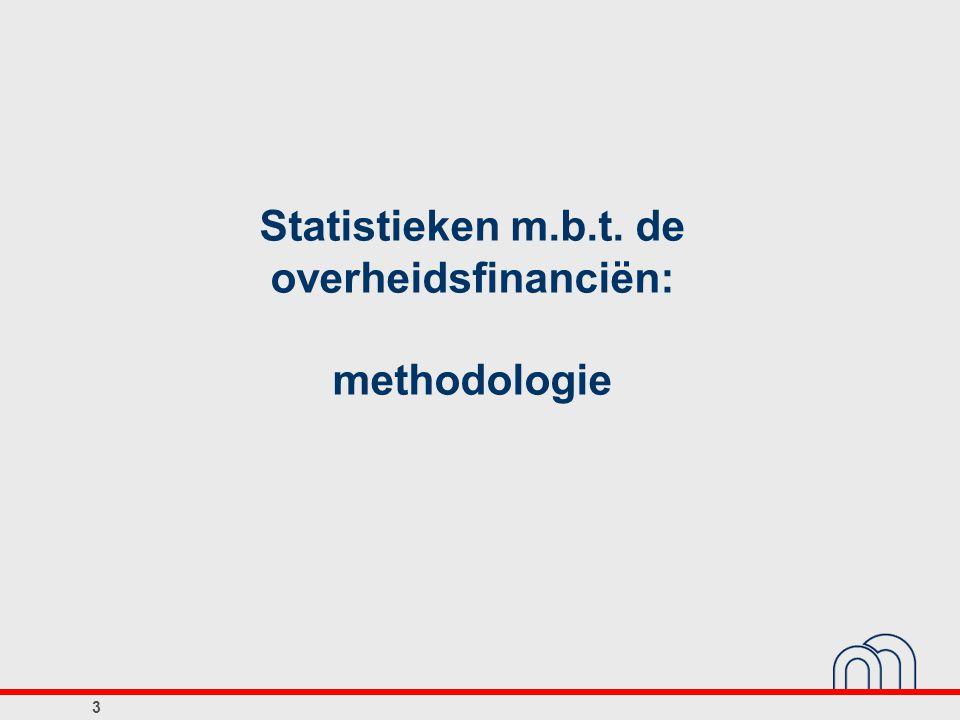 Statistieken m.b.t. de overheidsfinanciën: methodologie