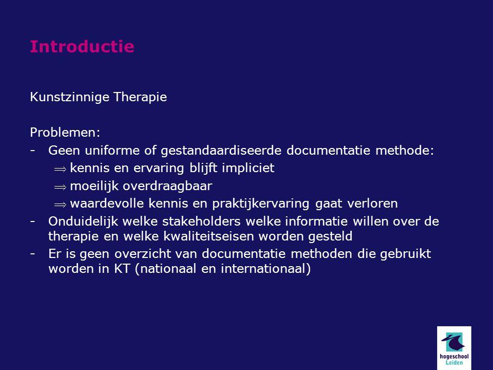Introductie Kunstzinnige Therapie Problemen: