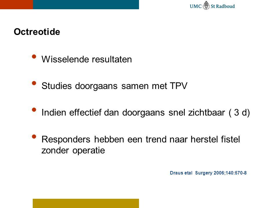 Wisselende resultaten Studies doorgaans samen met TPV