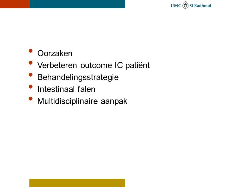 Oorzaken Verbeteren outcome IC patiënt. Behandelingsstrategie.