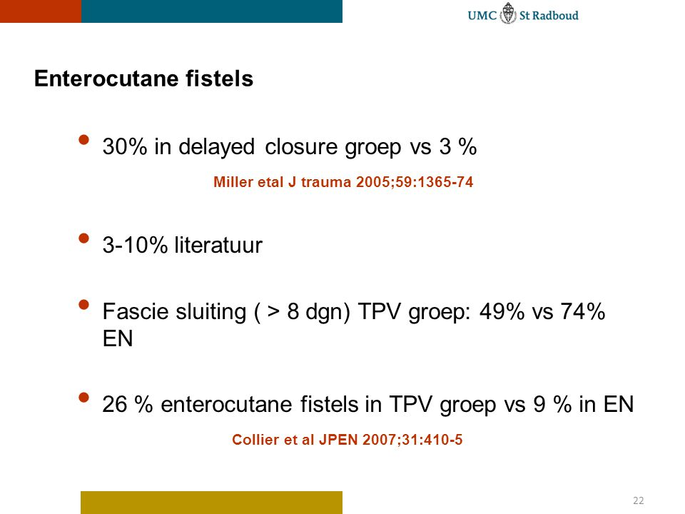 30% in delayed closure groep vs 3 %