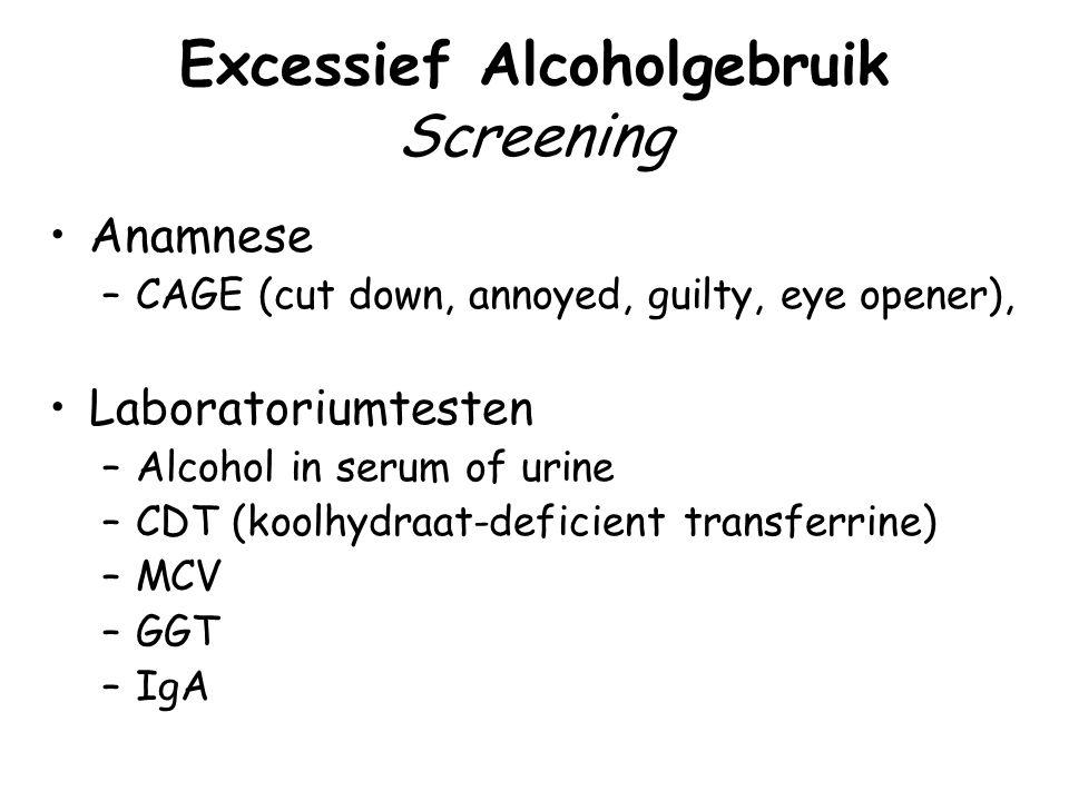 Excessief Alcoholgebruik Screening