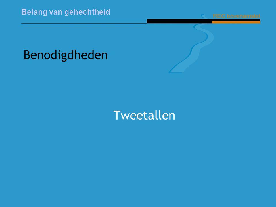Benodigdheden Tweetallen