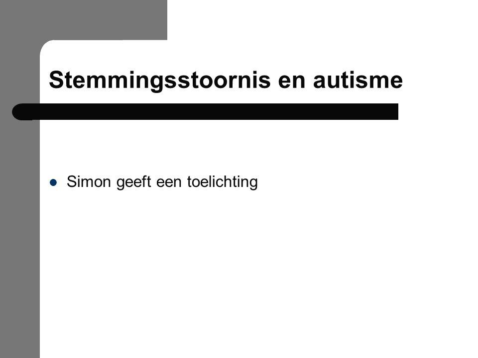 Stemmingsstoornis en autisme