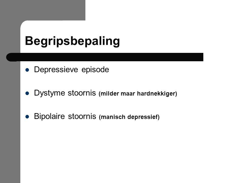 Begripsbepaling Depressieve episode