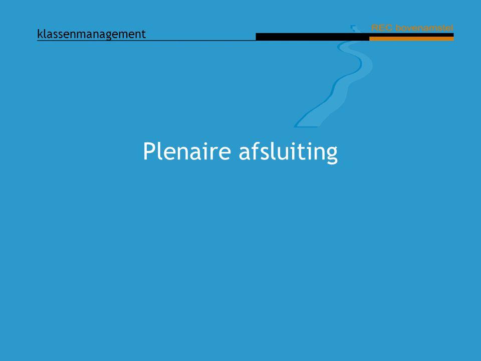 Plenaire afsluiting Dia: Plenaire afsluiting Praatpunten