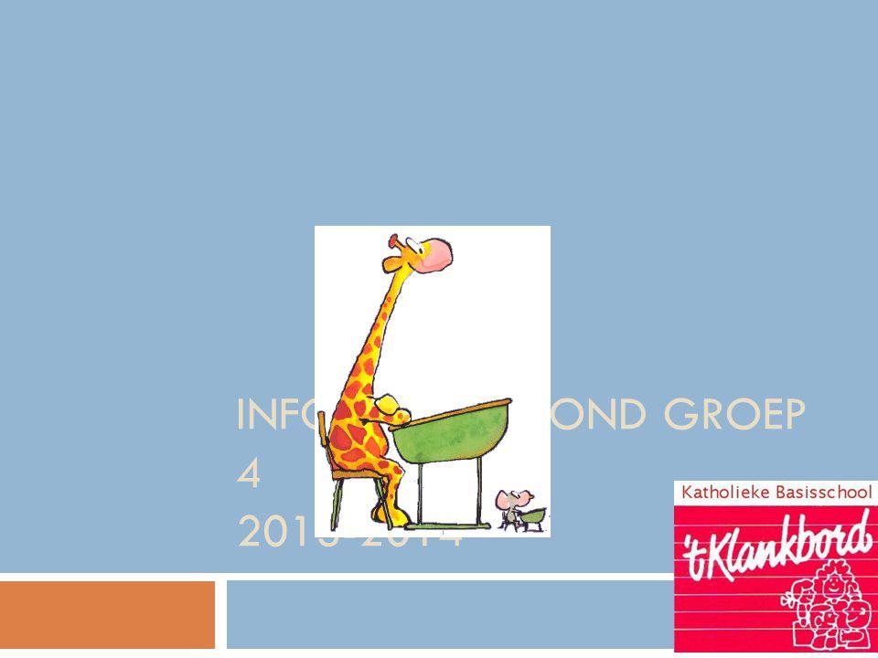 Informatie-avond groep 4 2013-2014