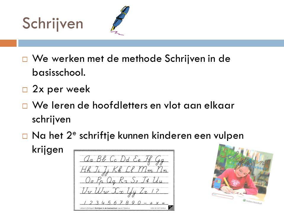 Schrijven We werken met de methode Schrijven in de basisschool.