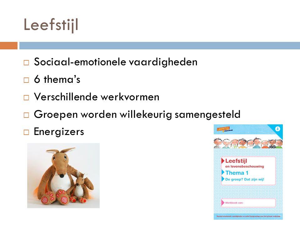 Leefstijl Sociaal-emotionele vaardigheden 6 thema's