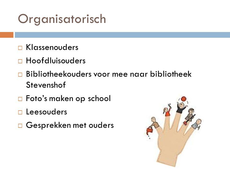 Organisatorisch Klassenouders Hoofdluisouders