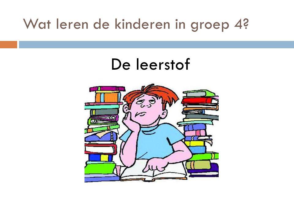Wat leren de kinderen in groep 4