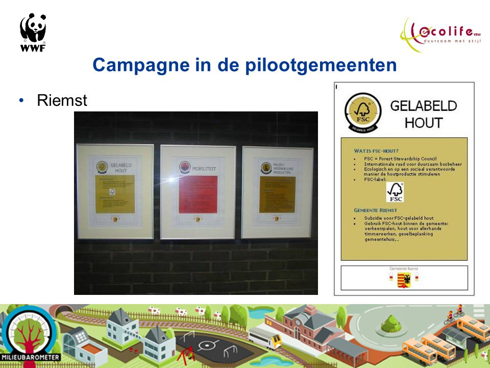 Campagne in de pilootgemeenten