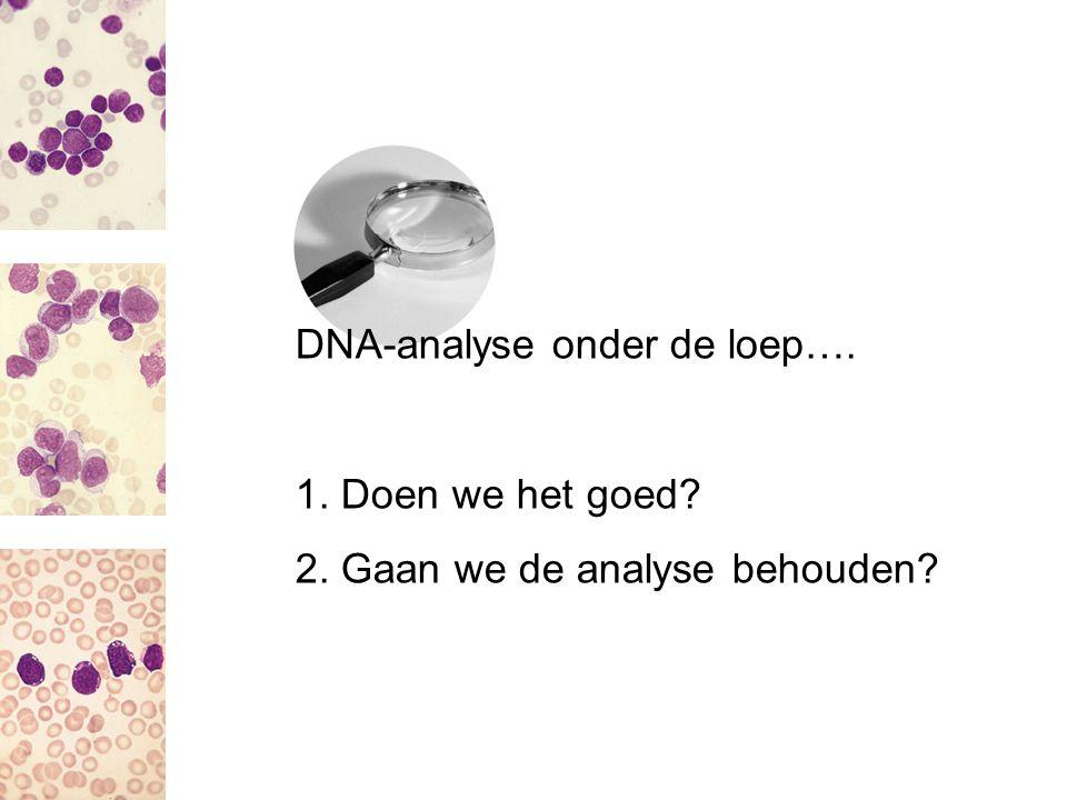 DNA-analyse onder de loep….